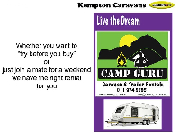 2001 Gypsey Raven Caravan (On road)
